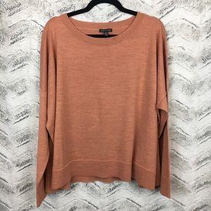 Eileen Fisher Bateau Neck Box Top Sweater